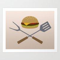 Jolly Burger Art Print