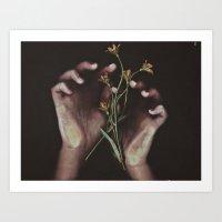 DELICATE HANDS Art Print