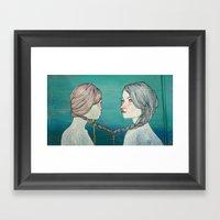 örgü / Braid Framed Art Print