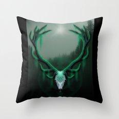 Wild Horns Throw Pillow