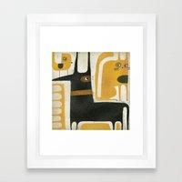 THREESOME Framed Art Print