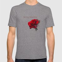 Be My Valentine Mens Fitted Tee Tri-Grey SMALL