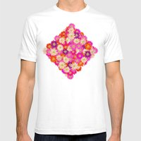 Flowers 02 Mens Fitted Tee White SMALL