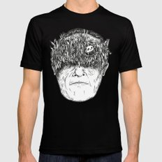Face Black SMALL Mens Fitted Tee