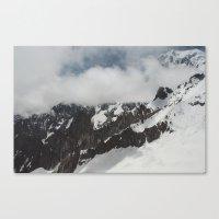 Clouds Shrouding Mont Bl… Canvas Print