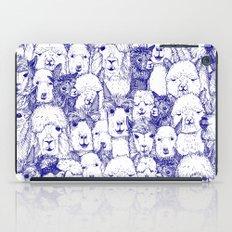 just alpacas blue white iPad Case