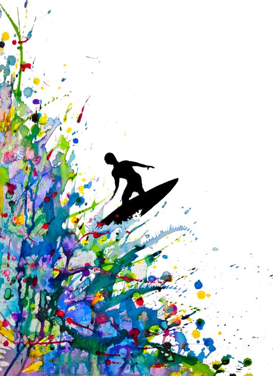 A Pollock's Point Break Art Print