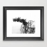 Flowers In Black Framed Art Print
