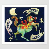 Night Horse Art Print