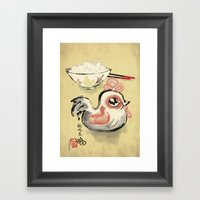 The Asian Chicken Rice Bowl Framed Art Print
