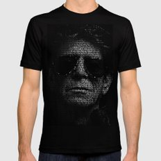 LOU REED, SO FREE. Mens Fitted Tee Black SMALL