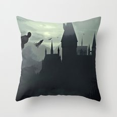 Harry Potter - The Dementors Come To Hogwarts Throw Pillow