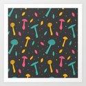 Mushroom madness Art Print