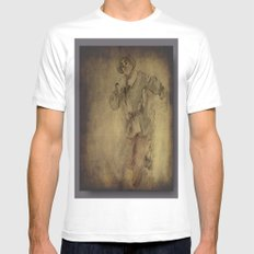 scarecrow Mens Fitted Tee White SMALL
