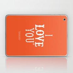 I love you* Laptop & iPad Skin