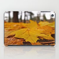 Golden Leaves iPad Case