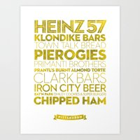 Pittsburgh — Delicious… Art Print