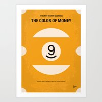 No089 My The color of money minimal movie poster Art Print