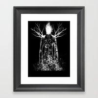 The Slenderman Framed Art Print