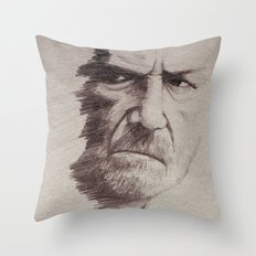 HALF FACE II Throw Pillow