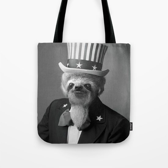 Life as an American Sloth Tote Bag