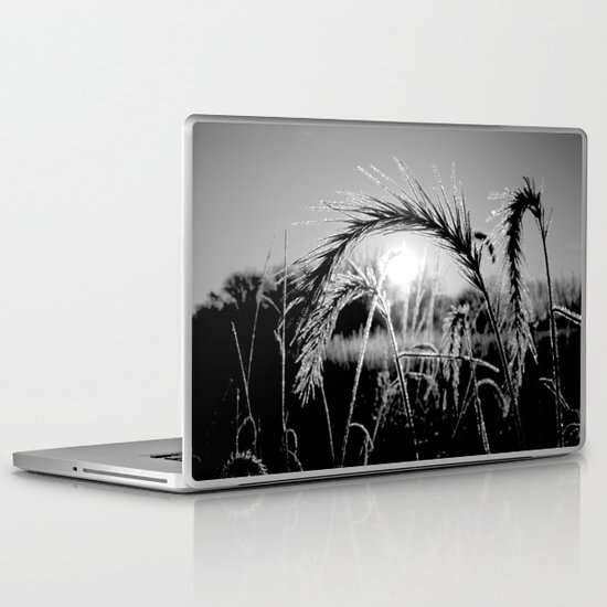 Wheat Sunrise B&W Laptop & iPad Skin