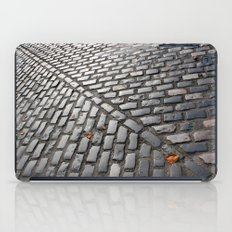Leaves on cobblestones iPad Case