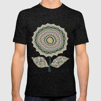 Fabby Flower-Mineral colors Mens Fitted Tee Tri-Black SMALL