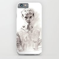 Girl Short Hair And  Shi… iPhone 6 Slim Case