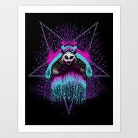 Possessed Panda Art Print