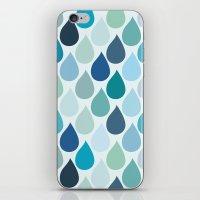 Blue rain iPhone & iPod Skin