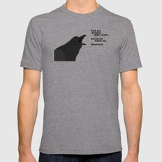 The Raven Got Mad Mens Fitted Tee Athletic Grey SMALL