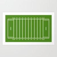 Football Field design Art Print