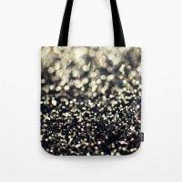 Black and Silver Glitter Tote Bag