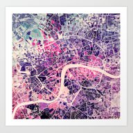 Art Print featuring London by MapMapMaps.Watercolo…