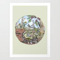 Rabbiting On Art Print