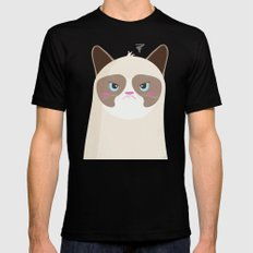Grumpy Cat Mens Fitted Tee Black SMALL