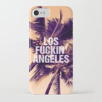 los angeles iPhone & iPod Cases featuring Los Angeles by Text Guy