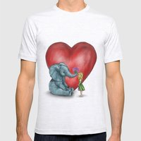 Pachyderm's  bouquet Mens Fitted Tee Ash Grey SMALL