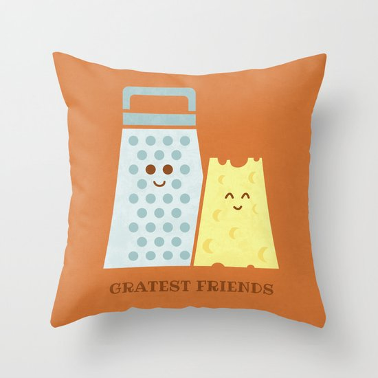 Cheesy Friendship Throw Pillow
