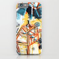 iPhone & iPod Case featuring Yellowredblueandblack by BASE-V