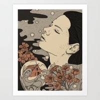 Midwasted Art Print