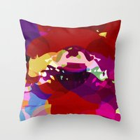 Acid Pizza Throw Pillow