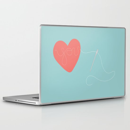 Stitched Heart Laptop & iPad Skin