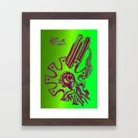 Simplistic Alien Framed Art Print