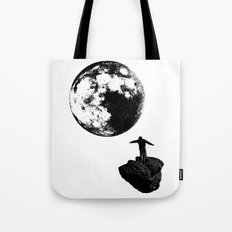 Boy and the Moon Tote Bag