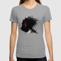 Ghost Warrior Womens Fitted Tee Tri-Grey SMALL