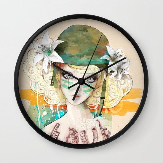 War girl Wall Clock