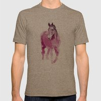 Pink horse Mens Fitted Tee Tri-Coffee SMALL