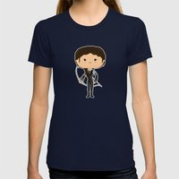 Girl on Fire Womens Fitted Tee Navy SMALL